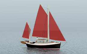 23' trailerable lapstrake motorsailer