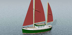 345 double-ended ketch-rigged aluminum motorsailer