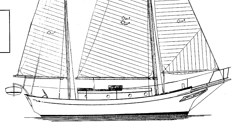 Sea Spirit outboard profile drawing