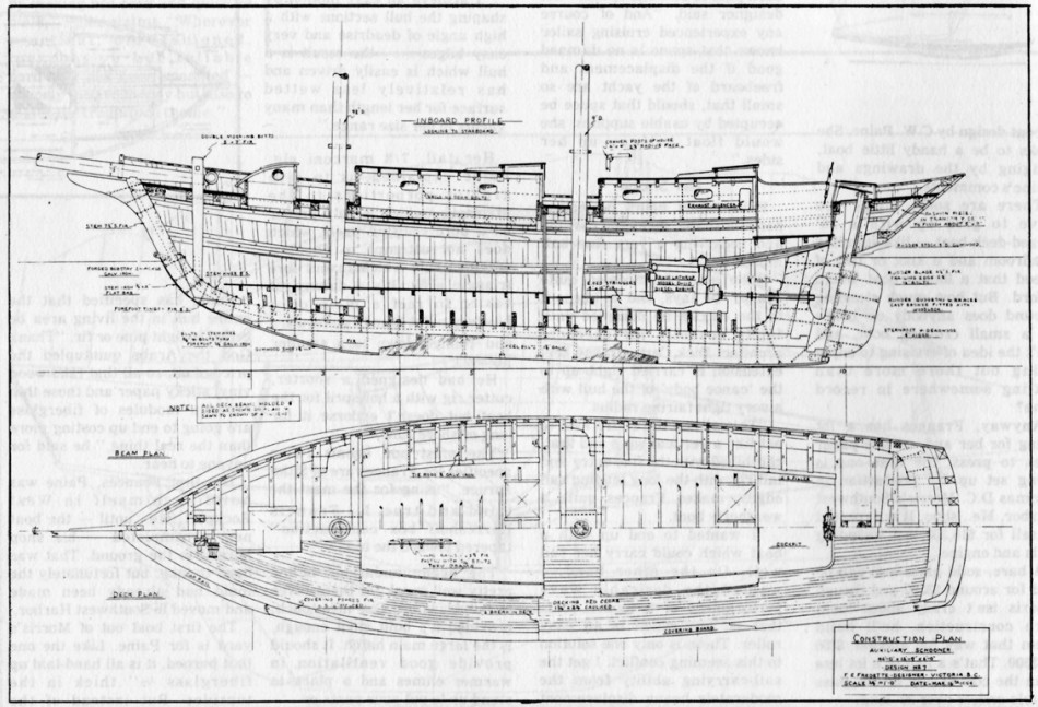Construction Drawing by Frank Fredette