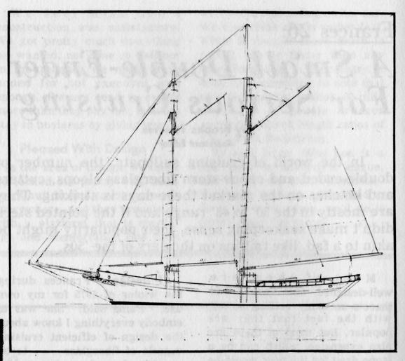 Frank Fredette sealing schooner sailplan