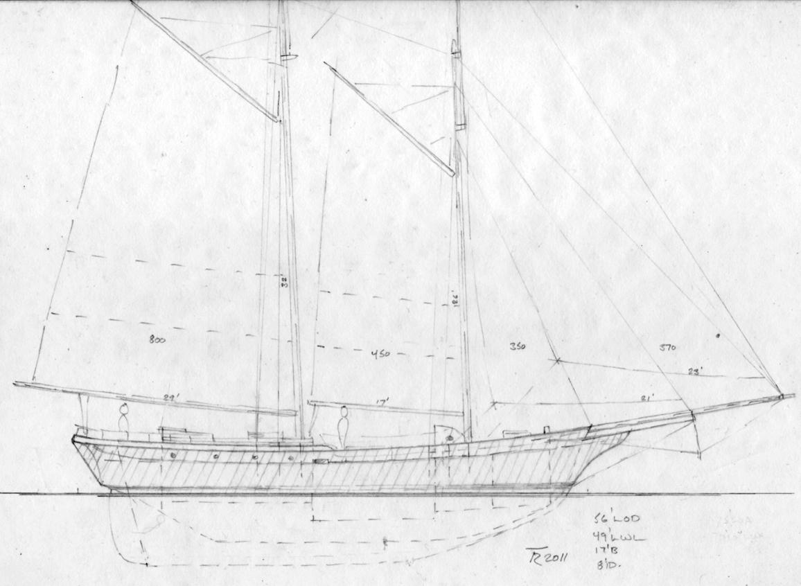 Sealing Schooner Sail Plan