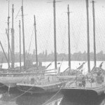 SEaling Schooners in Harbour