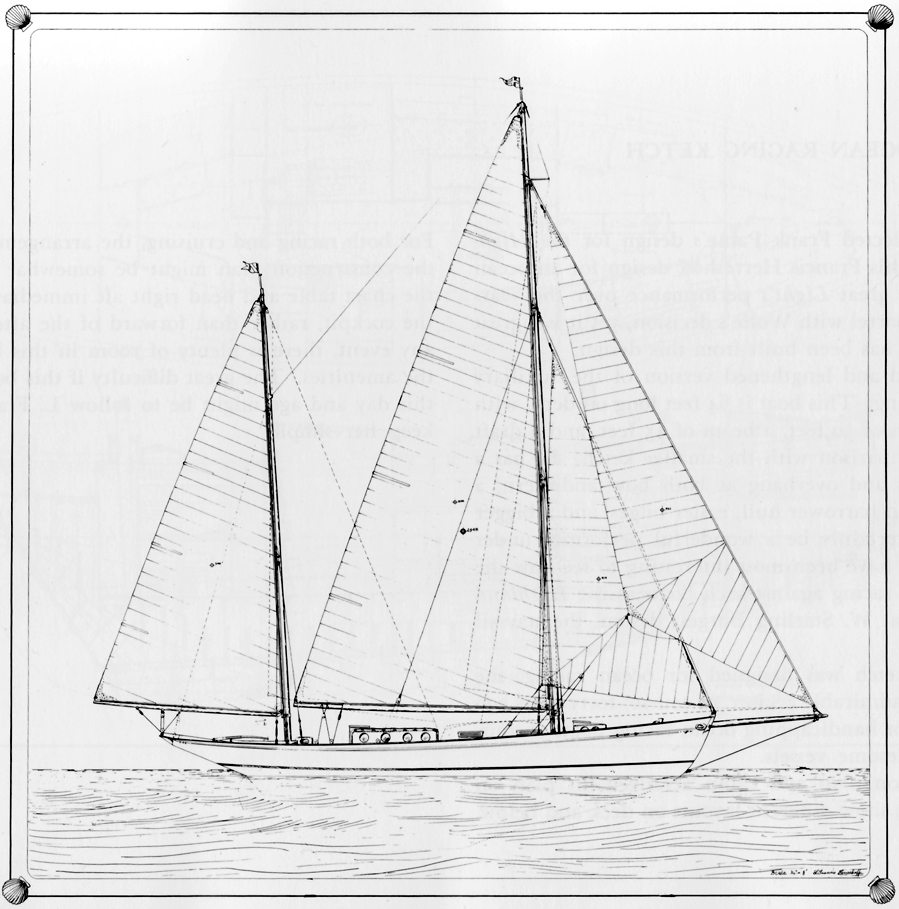 An ocean racing ketch