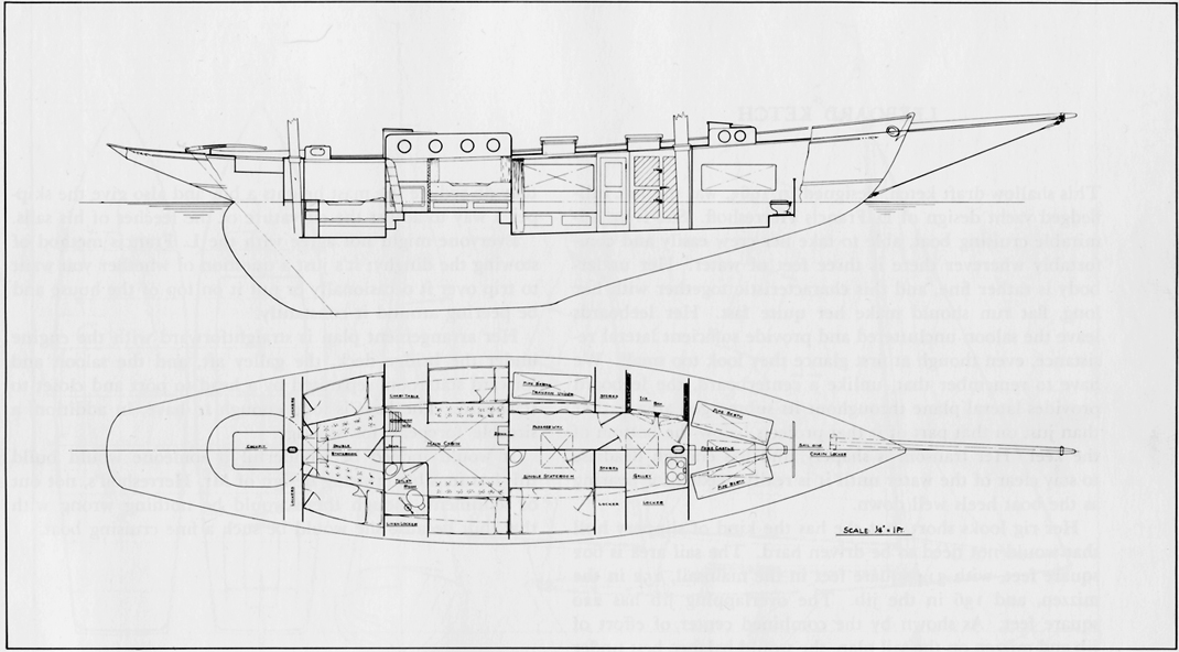 Francis Herreshoff design ketch arrangement