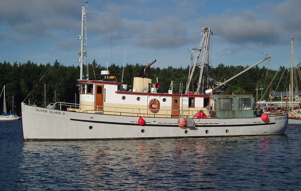 The Oliver Clark II at anchor