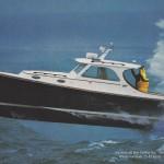 Hinckley Picnic Boat flying