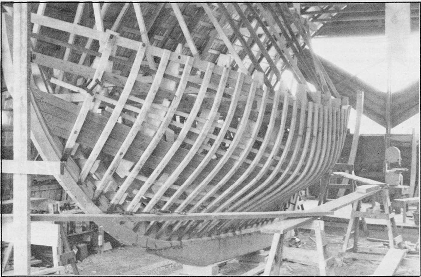Bruigom boat under construction