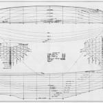 Tioga II hull lines by LF Herreshoff