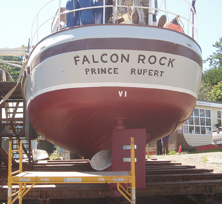 Stern of Falcon Rock