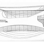 Hull Lines of schooner Lumberjack