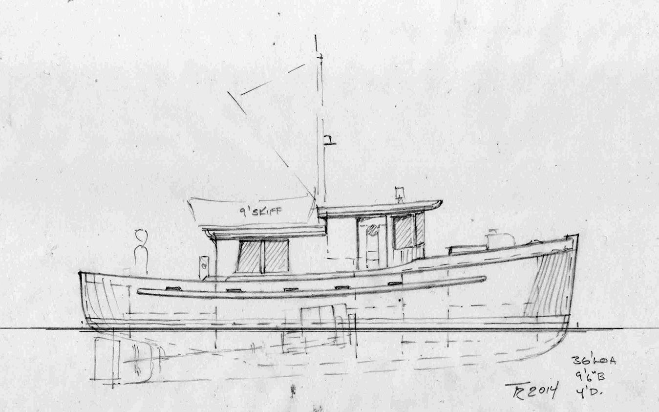 36' Easthope cruiser