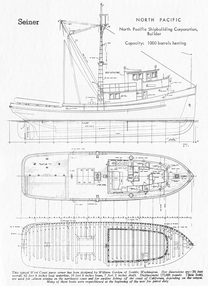 Seiner North Pacific designed by William Garden