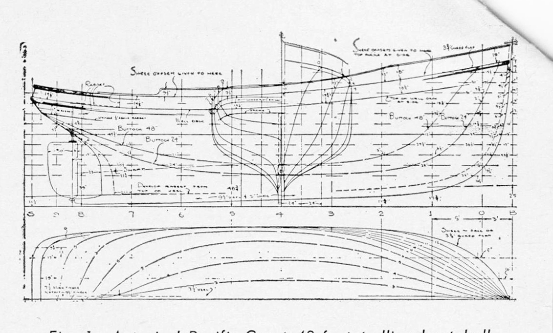 hull lines for a 48' bc salmon troller by william garden