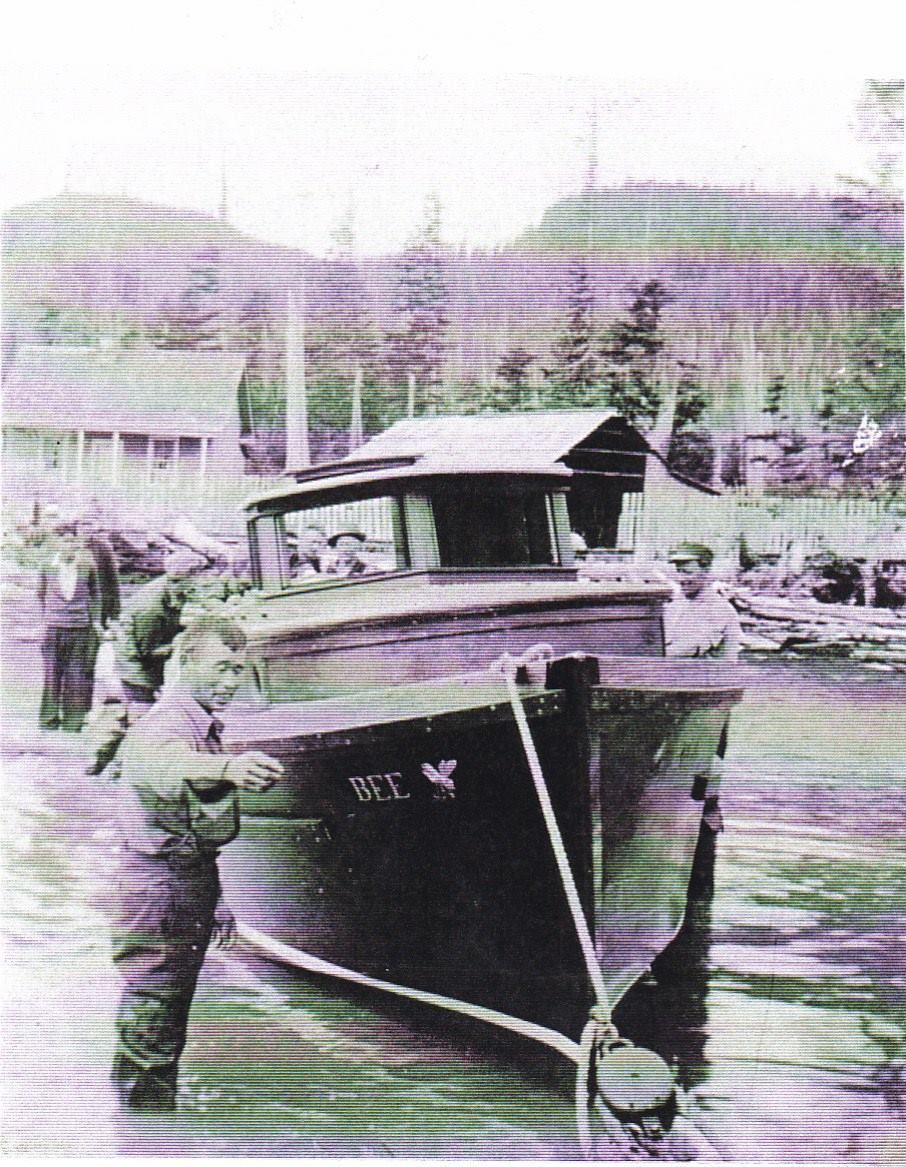 Launching the gillnetter Bee