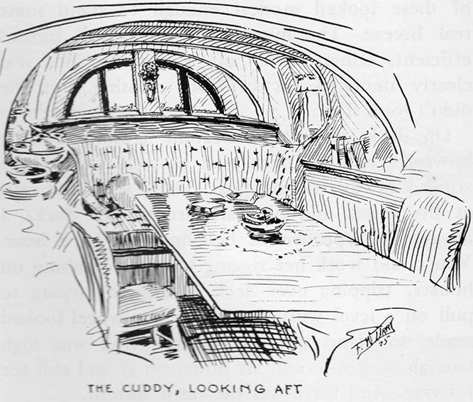 Aft cabin in Nonsuch