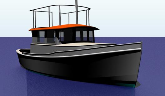 Aluminum tug cruiser