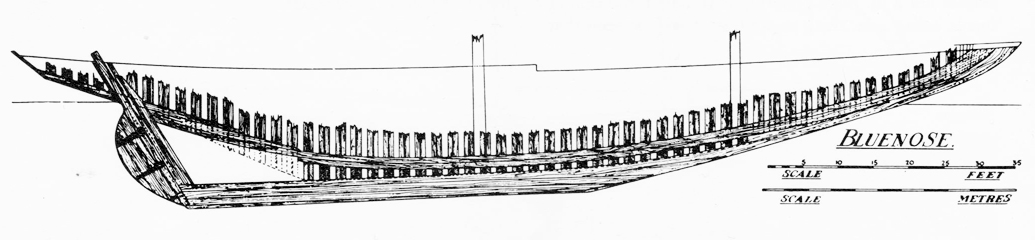 Bluenose construction drawing