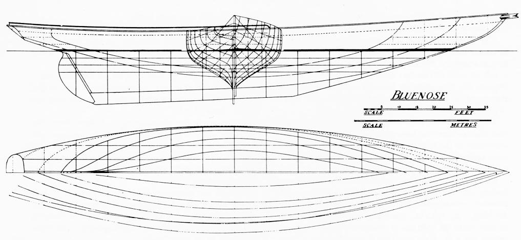 Bluenose hull lines