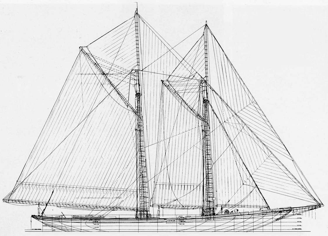 Columbia sail plan