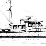 Sketch of 61 foot motoryacht