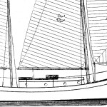 Sea Spirit outboard profile drawing